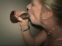 gloryhole cock showing