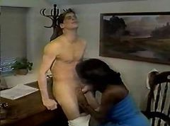 ebony on ebony cum swallowed twice
