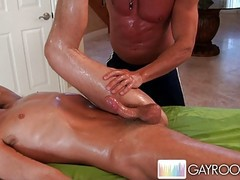 guy riding on a oiled pussy