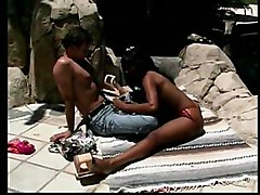 tamil mom in sleeping and son seening